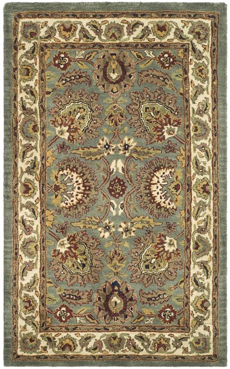 Safavieh Blue And Ivory Rug Safavieh Classic Cl359b Light Blue And Ivory Area Rug