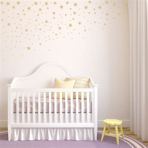 girls bedroom transfers scattered falling stars set of 100 star wall decals