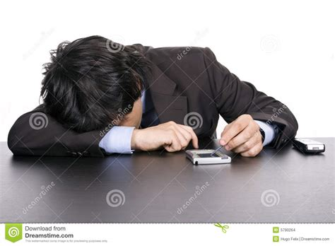 business sleeping on the desk stock images