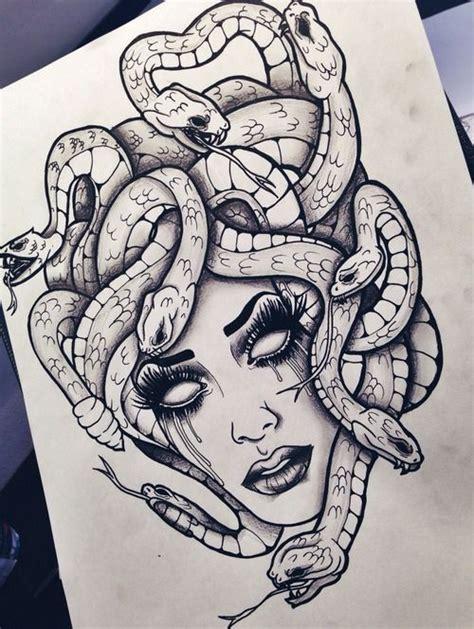 medusa head tattoo design best 25 medusa ideas on medusa drawing