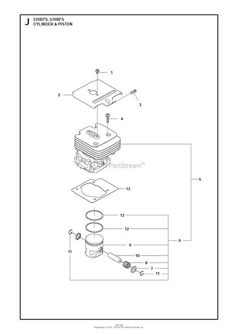 husqvarna bts   parts diagram  cylinder piston