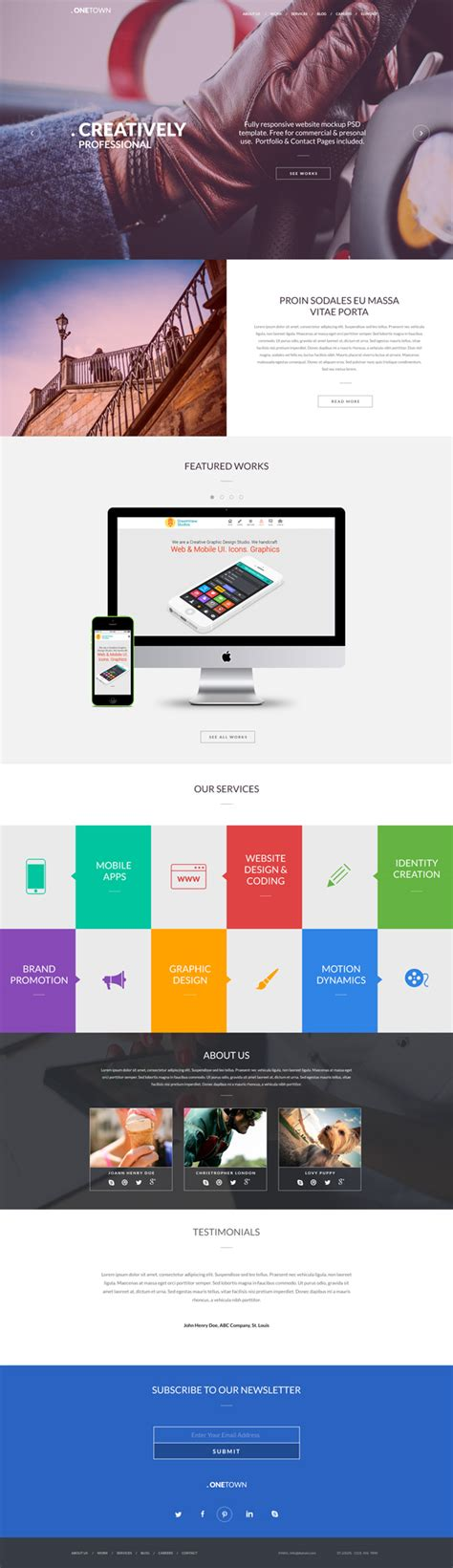Free Responsive Website Psd Templates Graphicsfuel Free Responsive Website Templates