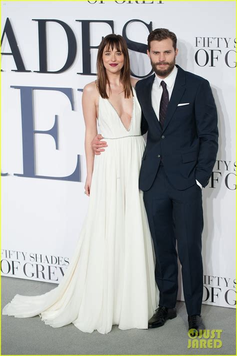 fifty shades of grey film premiere london jamie dornan dakota johnson premiere fifty shades of