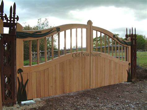 wooden gates for side of house s a spooner wood carving sussex wood turning wood restoration joinery wooden gates