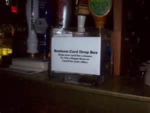 business card drop 365 bars a bar crawl