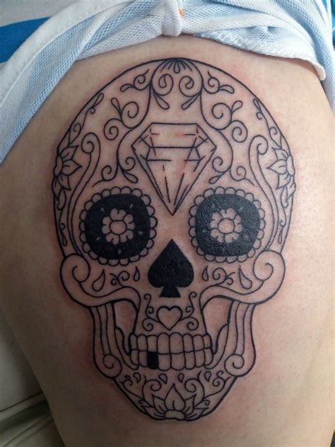 candy skull tattoo best sugar skull artist cool tattoos bonbaden