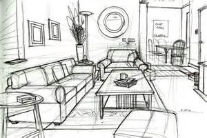one point perspective drawing living room search