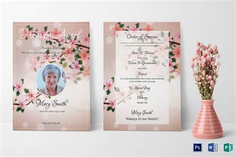 funeral leaflet template our favorite actually free funeral program templates