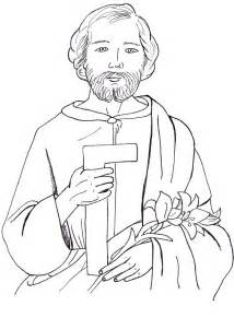 St Joseph Coloring Page joseph coloring page az coloring pages