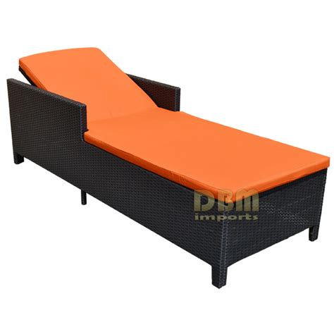 BLACK   1 Person SUNBED Wicker Rattan Outdoor Patio Pool