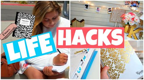 life hacks for home organization back to school life hacks 2015 organization study tips
