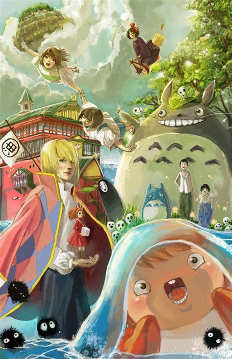 film d animation ghibli studio studio ghibli fan art imgur wall art pinterest