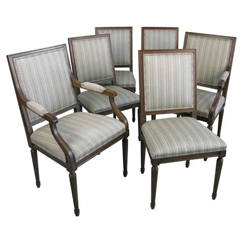 1960s furniture six 1960s baker furniture dining chairs louis xvi style