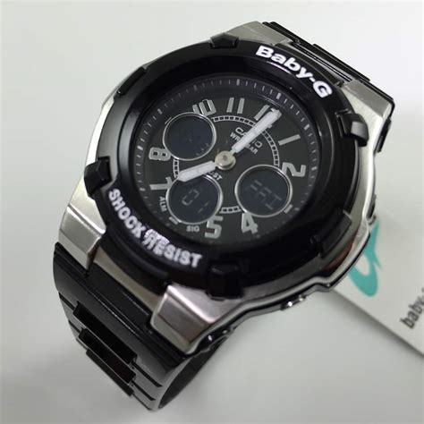 casio baby g analog digital bga110 1b2 ebay
