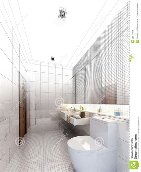 sketch of bathroom sketch design of interior bathroom stock images image 36948004
