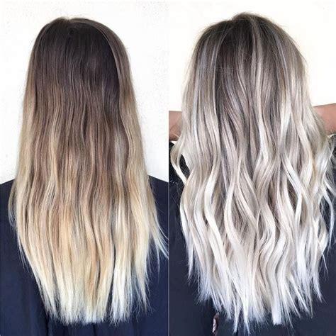 platinum gray ombre hairstyles de 20 b 228 sta id 233 erna om silver hair p 229 pinterest