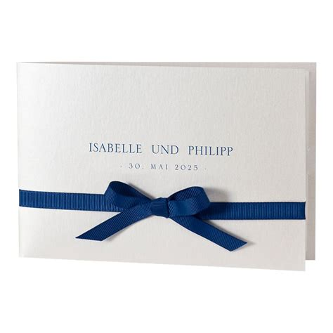 Hochzeitseinladung Blau by Hochzeitseinladung Quot Svantje Quot Blau Klappkarte Mit