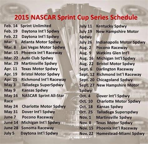 printable nascar schedule 2015 large print 2015 nascar schedule new calendar template site