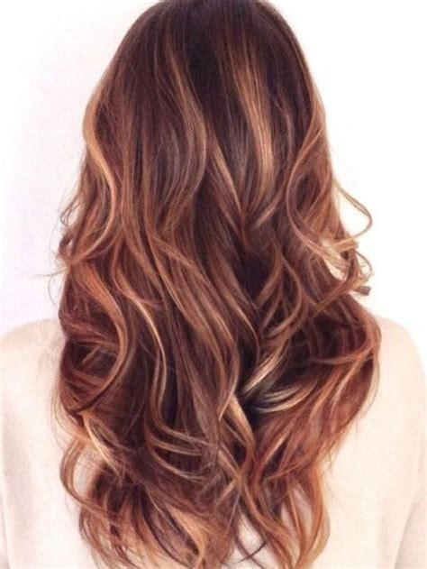 perfect combination for brown hair 25 best ideas about red hair with highlights on pinterest