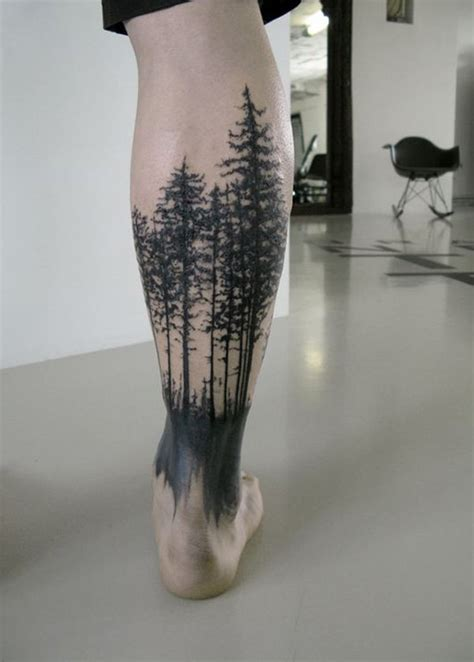 tattoo back forest 12 forest tattoos on leg