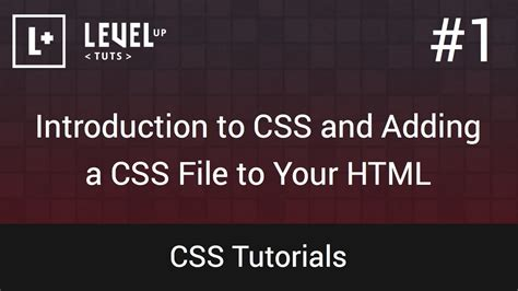 css tutorial separate file css tutorials 1 introduction to css and adding a css
