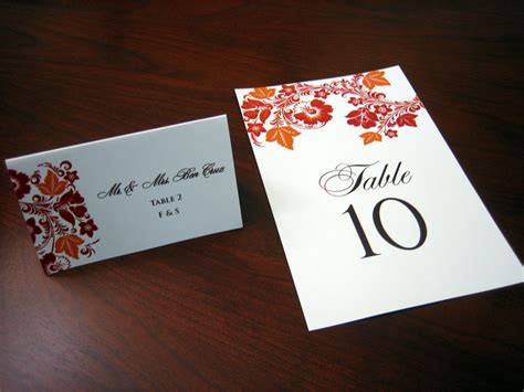 how to make table cards and orange wedding invitation a vibrant wedding