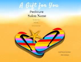 Pedicure Gift Certificate Template nail salon gift certificates