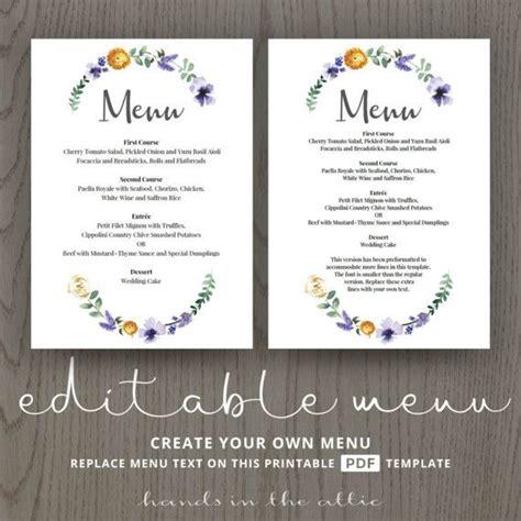 Buffet Wedding Menu Card Template by Wedding Dinner Menu Cards For Wedding Buffet Menu Ideas