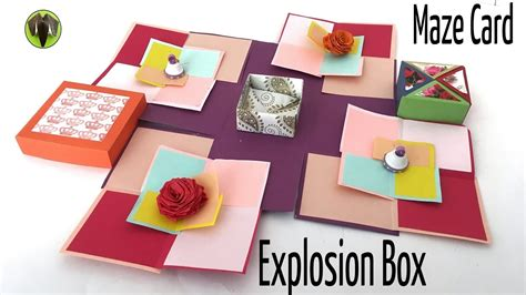 Gift Card Maze Box - super maze explosion box card diy tutorial by paper folds youtube