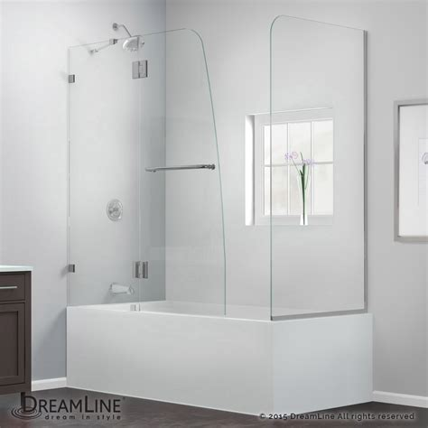 bathtub door aqualux tub door with return panel