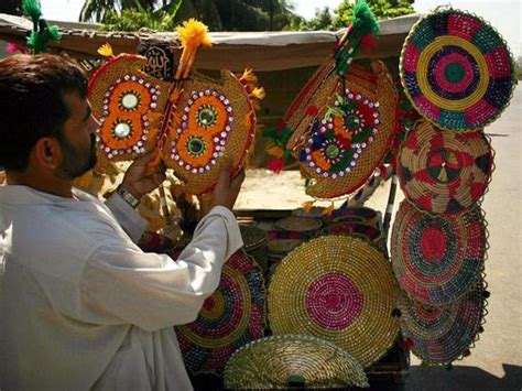 Handmade Pakistan - traditional products of sindh pakistan handmade fans