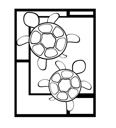 mosaic turtle coloring page 17 best images about stained glass frogs turtles on