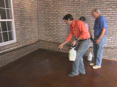 apply concrete stain stained concrete concrete