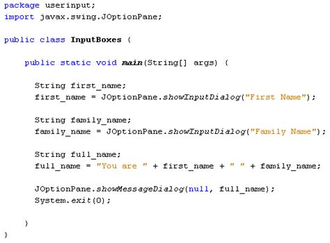java swing input grade10it java option panes