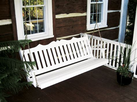 amish porch swings amish made royal english garden porch swing