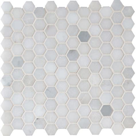 Unique Kitchen Backsplash Ideas ms international greecian white hexagon 12 in x 12 in x