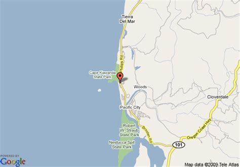 map of cape kiwanda oregon map of inn at cape kiwanda cloverdale