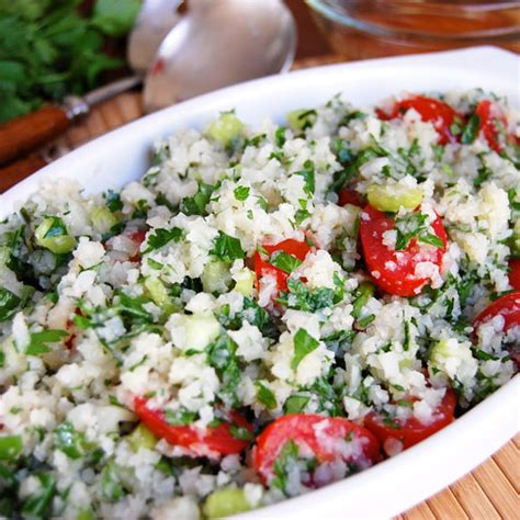 Side Tabbouleh by Low Carb Cauliflower Tabbouleh Paleo Grubs