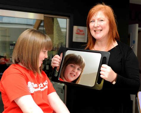 haircut edinburgh student rapunzel schoolgirl donates hair to childrens charity