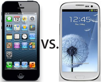 Hp Iphone Vs Samsung Samsung Galaxy S3 Vs Iphone 5 Review Will Iphone 5 Be The Best Handset