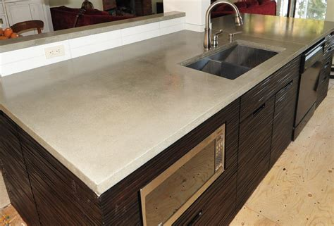 modern countertops mode concrete ultra chic and modern concrete kitchen