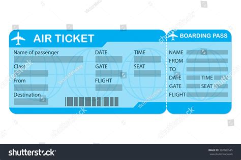 air ticket template pics for gt blank air ticket