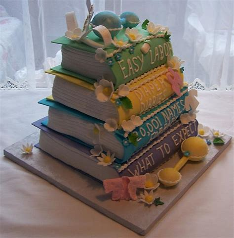 Baby Shower Book Cakes by Baby Shower Cake Baby Books Side View
