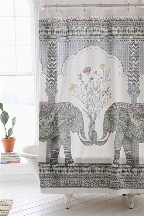 magical thinking elephant shower curtain outfitters