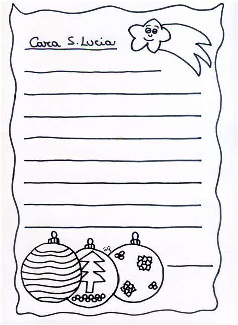 lettere per santa lucia letterina a babbo natale per bambini