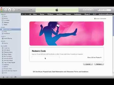 How To Put Money On Itunes With A Gift Card - how to put money on your itunes account youtube