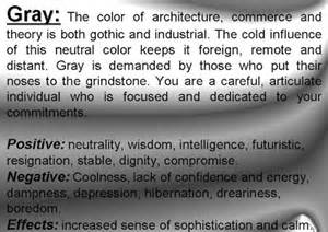 color grey meaning meaning of colors psychology of color personality