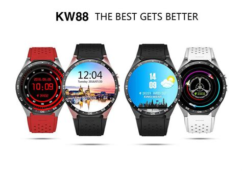 KingWear KW88 3G Smartwatch Phone   Red
