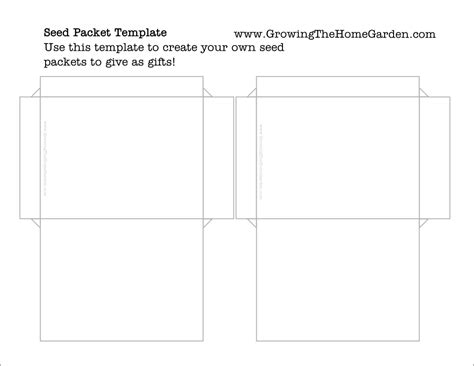 free seed packet template basic growing the home garden