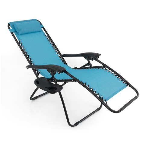 zero gravity beach recliner 2 folding zero gravity reclining lounge chairs utility tray outdoor beach patio